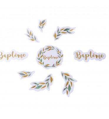 Confettis baptême