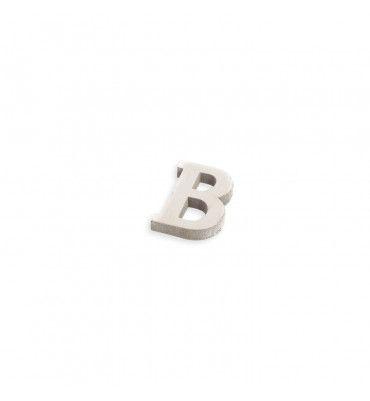 Lettre B en bois blanc