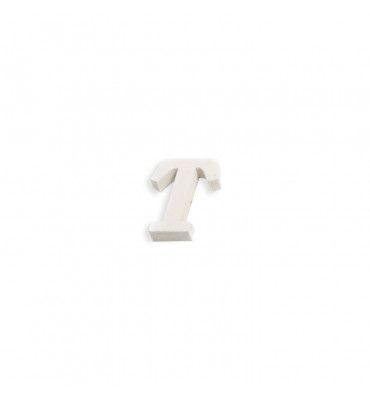 Lettre T en bois blanc