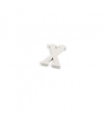 Lettre X en bois blanc