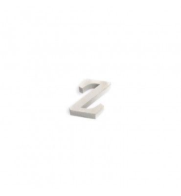 Lettre Z en bois blanc
