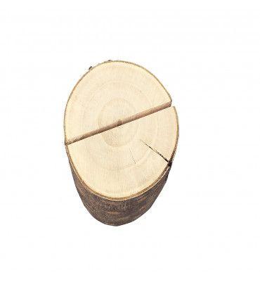 Porte-menu rondin de bois...