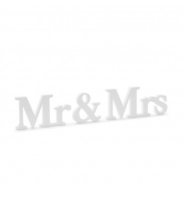 """Inscription en bois """"Mr & Mrs"""""""