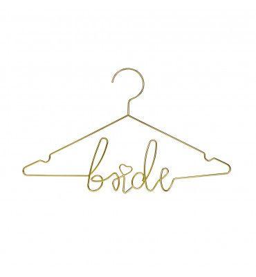 """Cintre """"Bride"""" en métal or"""