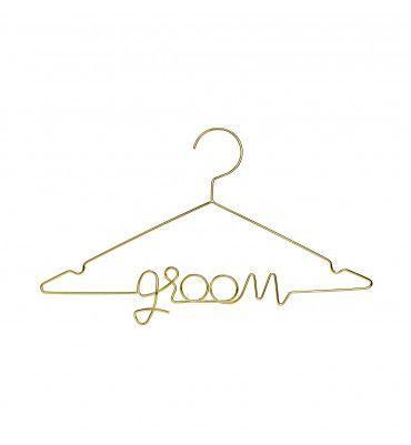 """Cintre """"Groom"""" en métal or"""