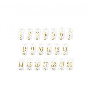 Lot de 20 numéros de table...