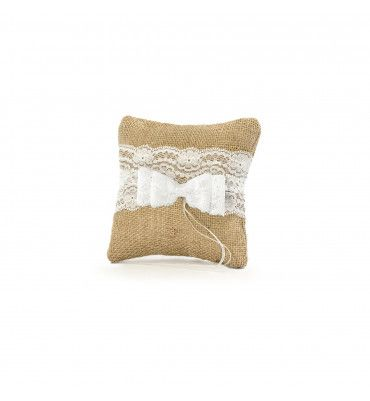 Coussin alliances jute...