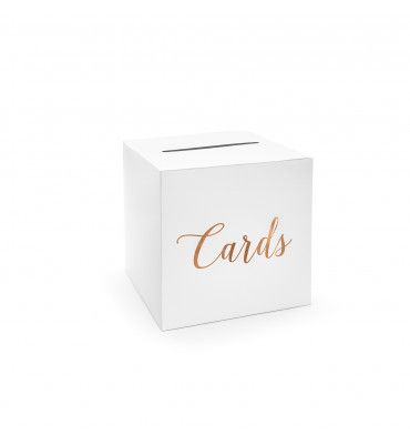 "Urne blanche ""Cards"" rose gold"