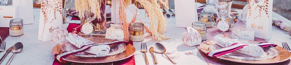 Tout pour la décoration de vos tables de mariage